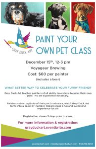 Grand Marais paint your pet night
