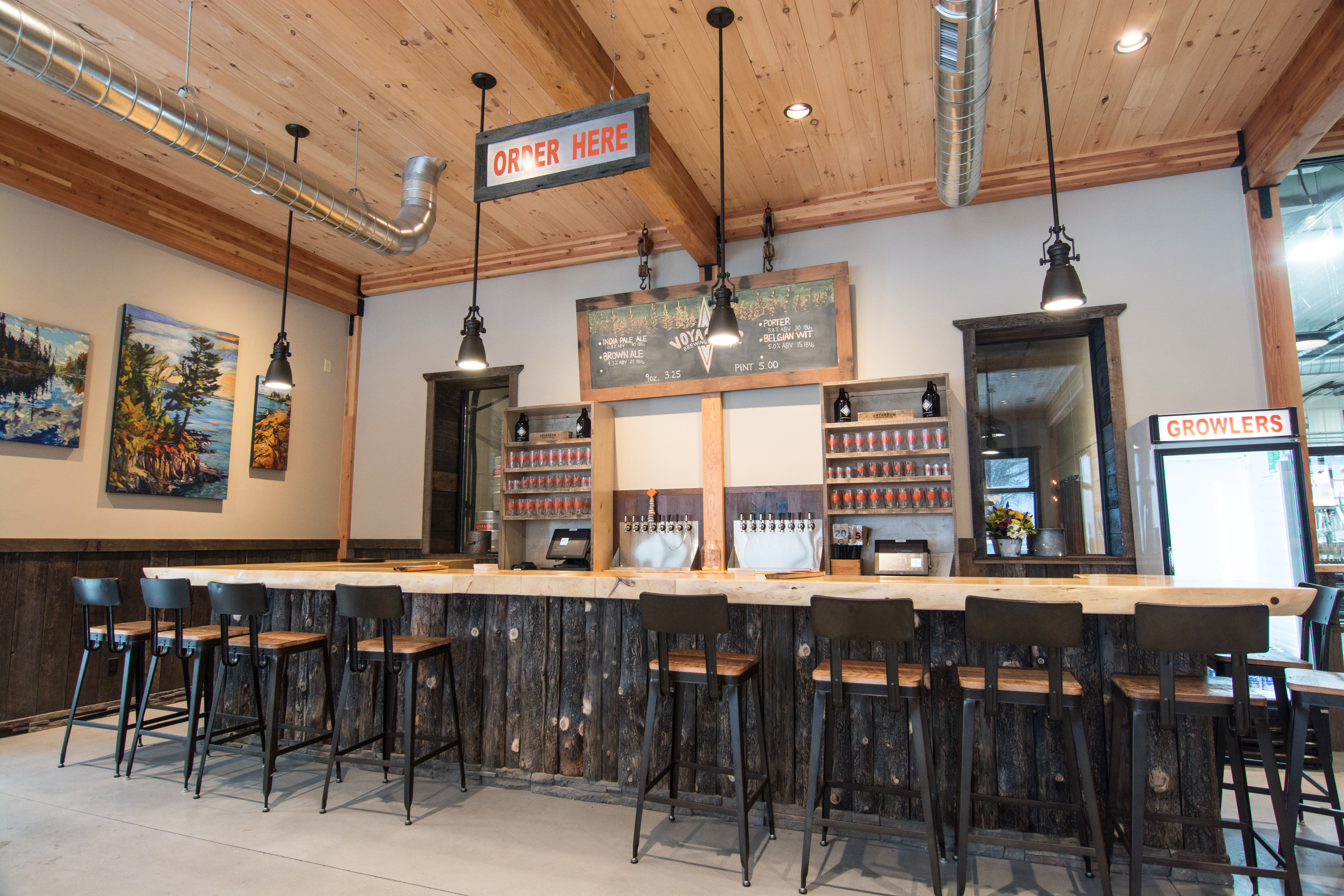 Grand Marais, Minnnesota's craft brewery on the shore of Lake Superior