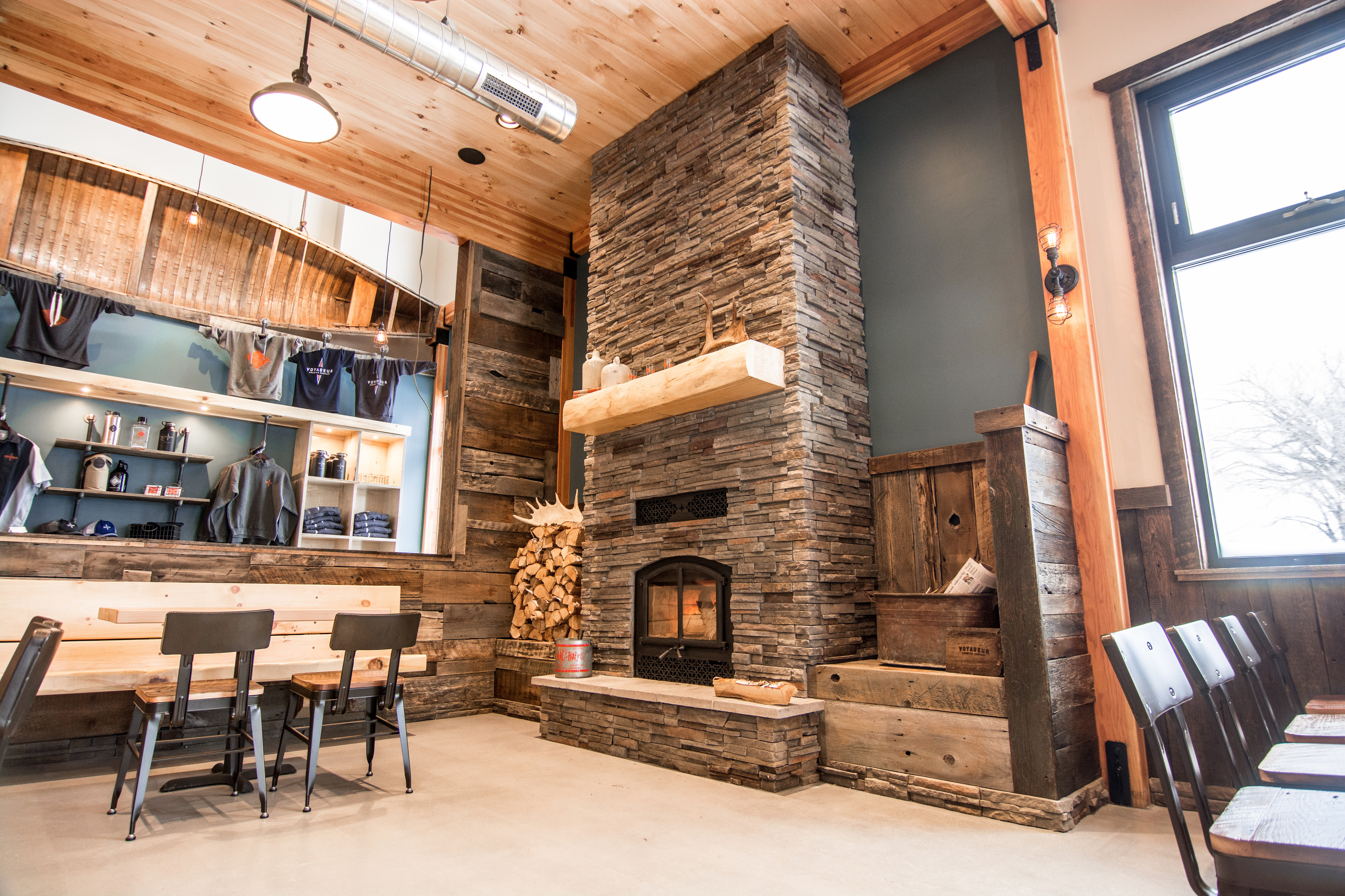 Cozy & comfortable taproom with a view of Lake Superior