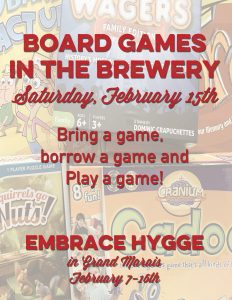 Board games at the brewery