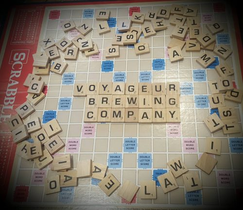 Scrabble at Voyageur Brewing