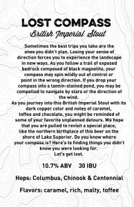 Lost Compass Imperial Stout